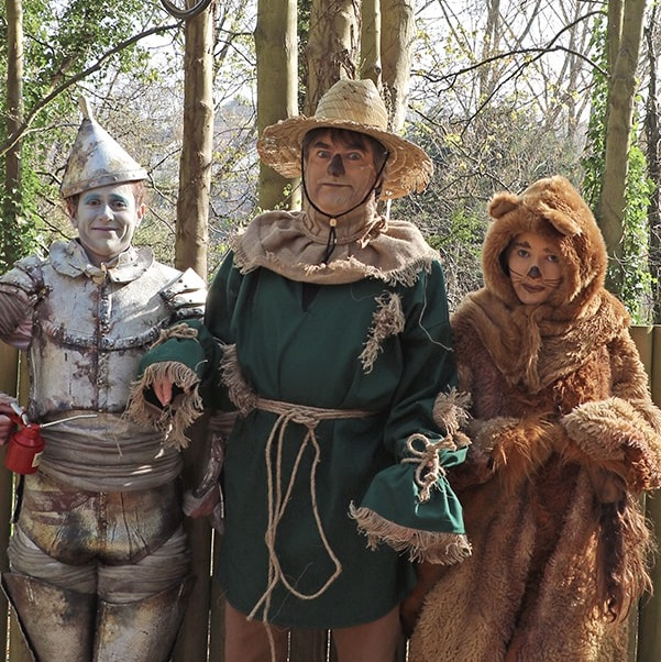halloween revellers dressed up as wizard of oz characters